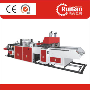Automatic High Speed Biodegradable Plastic Shopping T-Shirt Bag Making Machine Price pictures & photos