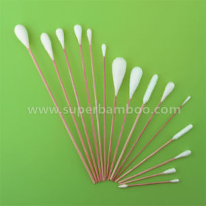 Customized Bamboo Stick Cotton Bud for Medical Use