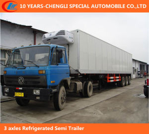 3 Axle Refrigerated Van Cargo Semi Trailer, Large Volume Refrigerated Cargo Trailer pictures & photos