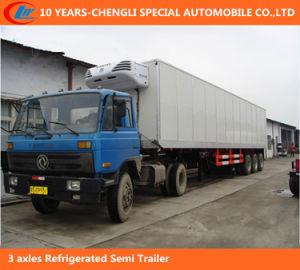3 Axle Refrigerated Van Cargo Semi Trailer pictures & photos