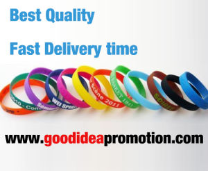 Silicone Bracelets with Customer Printing Logo pictures & photos