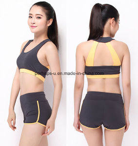 Fashion Quickly Dry Comfortable Gym Vest Running Shorts Fitness Suit pictures & photos