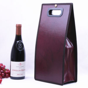 Custom Leather Wine Packing Handle Bag pictures & photos
