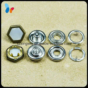 Hexagon Bead Surface Metal Prong Type Ring Snap Button pictures & photos