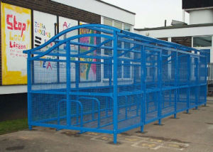 Steel Outdoor Bike Safe Parking Shelters pictures & photos