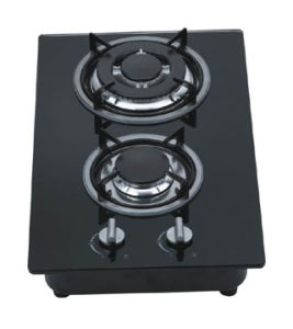 Gas Hob Two Burner Glass Panel (GH-G302E) pictures & photos