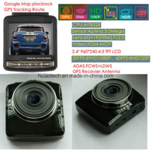 """Hot Sale 2.4"""" Car Dash GPS Car Black Box with GPS Tracking Route GPS Coodinate Speed Limit Remind, FHD 1080P Car DVR, HDMI out Car Parking Control Came DVR-2415 pictures & photos"""