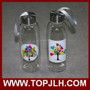Hot Wholesale Heat Transfer Printed Glass Water Bottle