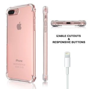 Shock Absorption Flexible TPU Bumper Anti-Scratch Slim Protective Clear Back Cover for iPhone 7 Plus pictures & photos
