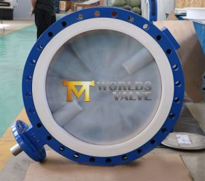36 48 52 Inch PFA Coated Disc U Type Butterfly Valve