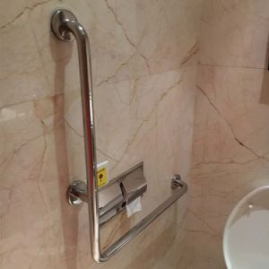 Polished Stainless Steel Shower Handrail Disable Grab Bar pictures & photos