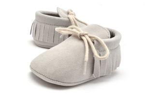 Wholesale Prewalker Baby Shoes Tassel Soft Soles Lace-UPS Infant Shoes pictures & photos