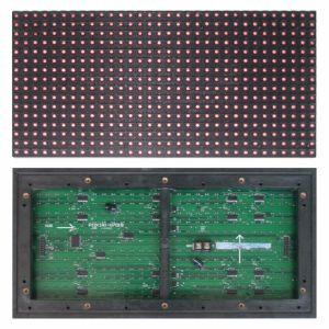P10 Outdoor Red Color LED Modules for Advertising pictures & photos