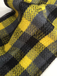 Stock Check Wool Fabric, Woollen Fabric (Yellow & Black Woollen Cloth) pictures & photos
