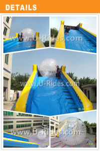 10m Long Bule Color Inflatable Zorb Ramp for Kids Zorb Ball pictures & photos