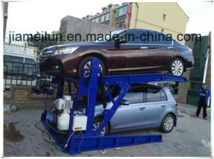 Low Height Two Post Tilting Car Parking Lift pictures & photos