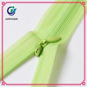 Neon Green Color Invisible Puller Nylon Zipper pictures & photos
