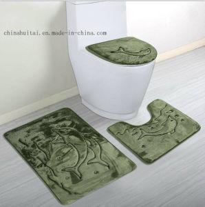 Luxury Three Pieces Set Anti-Slip Bathroom Mat