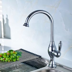 FLG Chrome Finshed Brass Kitchen One Single Hole Faucet pictures & photos