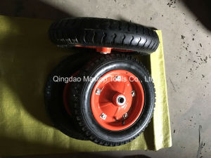 Maxtop Pneumatic Rubber Wheel Barrow Wheel pictures & photos