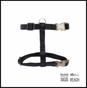 Cheap Solid Black Nylon Pet Dog Harness pictures & photos
