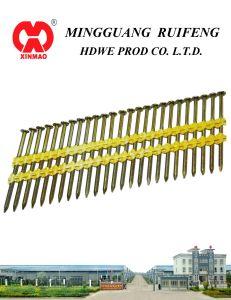 "2"" X. 113"" Framing Nails, Screw Shank Electro-Galvanizing (EG) , 21 Degree Plastic Strip Nails pictures & photos"