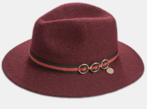 Metal Studs Wool Fedora Felt Hat pictures & photos