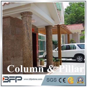 Roman Round Pillar Marble Column Natural Stone Columns pictures & photos