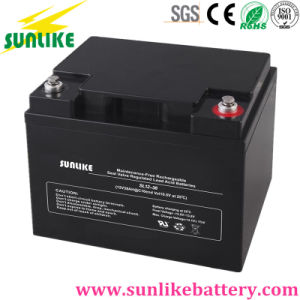 Solar Panel Deep Cycle Solar Power Industrial UPS Battery 12V38ah pictures & photos