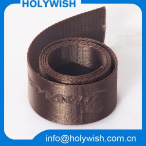 Weaving Tape Jacquard Webbing Band with Brown Color Printed