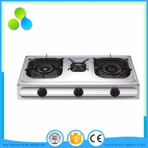 All Stainless Steel 3 Eyes Cooking Stove, Gas Stove pictures & photos
