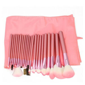 22PCS Pink Professional Makeup Brush Set with PU Leather pictures & photos