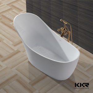 Oval Shape Corian Solid Surface Free Standing Bathtub pictures & photos