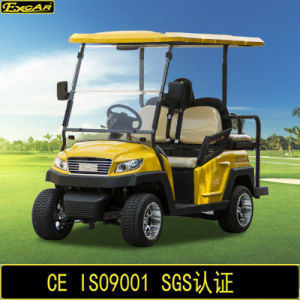 China 4 Seater Electric Golf Buggy with Flip-Flop Back Seat pictures & photos
