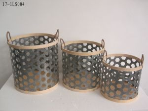Iron and Bamboo Basket for Holding, Home Decoration and Gift pictures & photos