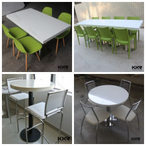 Latest Designs Artificial Stone Restaurant Booth and Table pictures & photos