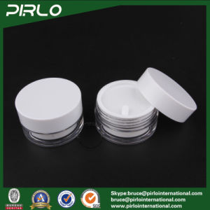 30g Plastic/Acrylic Double Wall White Jar, Round Shape Cosmetic Container, Empty Cream pictures & photos