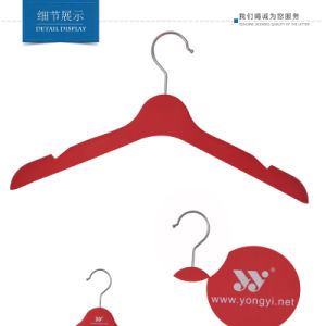Plastic Women Clothes Hanger Rubber Coated Plastic Top Hanger pictures & photos