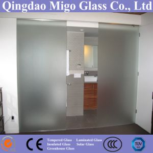 6-10mmtoughened Acid Etched Frosted Glass Used as Bathroom Door pictures & photos
