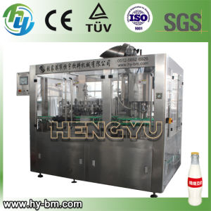 Glass Bottle 3-in-1 Filling Machine for Soy Milk (BCGY) pictures & photos