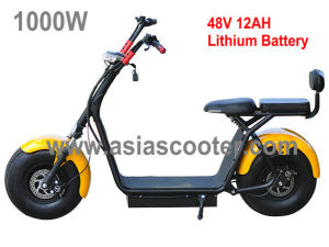 1000W Adult Fat Tyre Harley Electric Scooter with Backrest pictures & photos