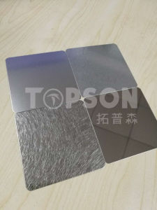 201 304 316 Decorative Color Stainless Steel Sheet Plate with Bead Blast Finsh pictures & photos