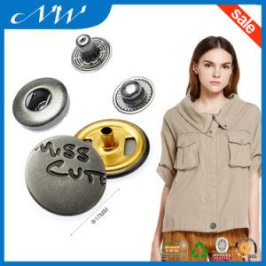Fashion Metal Spring 4parts Engarved Logo Custom Snap Button