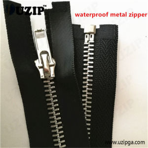Waterproof Metal Zipper / Metallic Silver Zippers / Zipper Separated