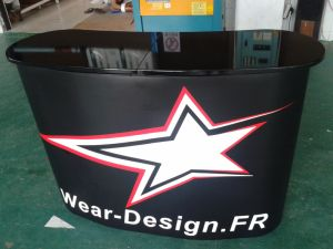 Folding Counter Display Reception Desk (PM-07-C) pictures & photos