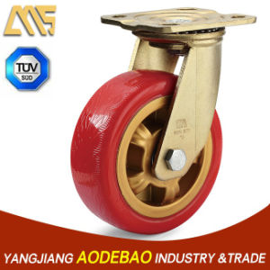Heavy Duty Swivel PU Caster Wheel pictures & photos