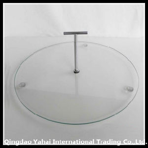 1 Tier Clear Tempered Glass Plates with Handle pictures & photos