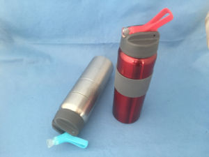 Stainless Steel Water Sporty Bottle with Flip Lid pictures & photos