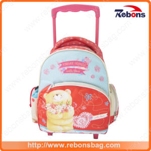 New Designer Factory Sale Polyester Book Bags with Wheels pictures & photos