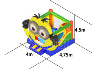 Cartoon Theme Minions Inflatable Bouncer Combo Castle for Sale pictures & photos